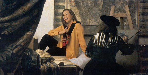 Barbara Brickner modelling for Elena Miro (and for Jan Vermeer), Fall 2003