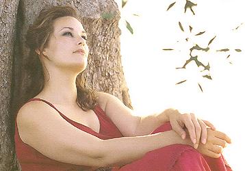Barbara Brickner modelling for Elena Miro's 'Ciao, Magre!' magazine, Spring 2003