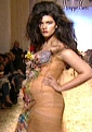 On the runway in the Jean-Paul Gaultier Spring/Summer 2006 Pret-a-porter show in Paris