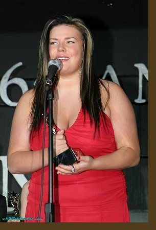 Christina receiving the Young Artist Award for ''Best Performance in a TV Series (Comedy or Drama) - Supporting Young Actress.'' Click the image to view it at a larger size