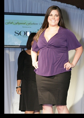 Waking the runway for Kiyonna at FFFWeek 2010; photograph by Richard Lew; click to enlarge