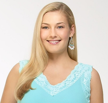 Amber Cather modelling for Macy's. (Amber is probably the industry's most attractive faux-plus model--sadly, only a size 12 at 5'10''. Were she a size 14 or better, she would instantly become one of the most significant plus-size models of all time.)