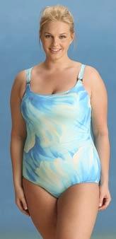 Unidentified model for www.christina.ca plus-size swimwear