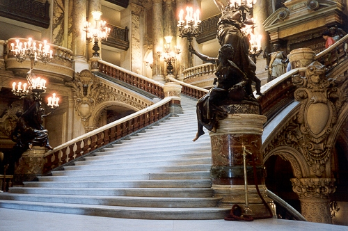 Grand Staircase in the Garnier opera house, Paris