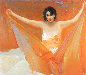 Luca Conca, 'Woman in Orange'
