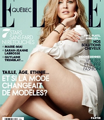 Justine Legault on the cover of Elle Quebec, May 2013