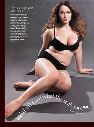 Editorial page in ''Glamour'' magazine, May 2007