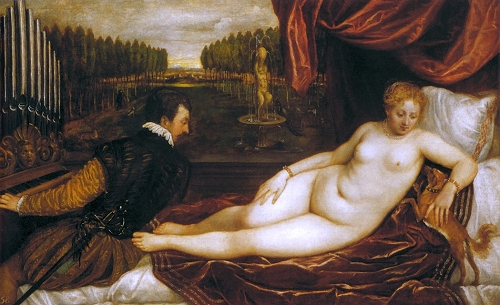 Titian, ''Venus with an Organist'' (c.1550)