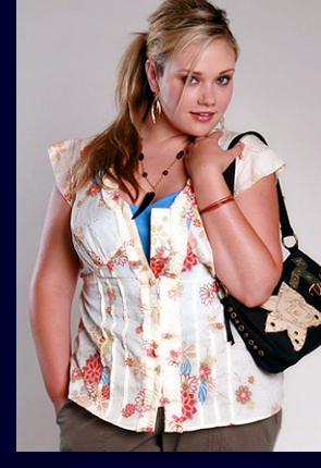 Modelling for Torrid, summer 2006; photo by Michael Anthony Hermogeno