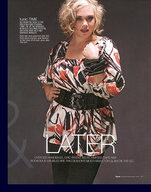 Editorial layout in ''Figure'' magazine, November/December 2008