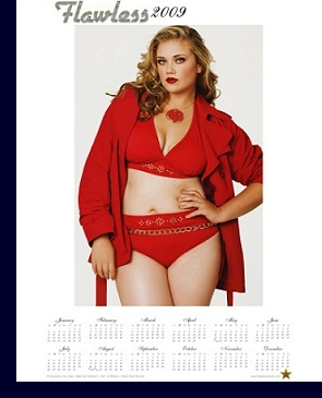 ''Flawless'' plus-size model calendar, 2009