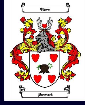 Olson (Denmark) family crest