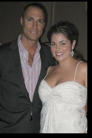 With noted fashion photographer Nigel Barker at a David's Bridal fashion show; click to enlarge