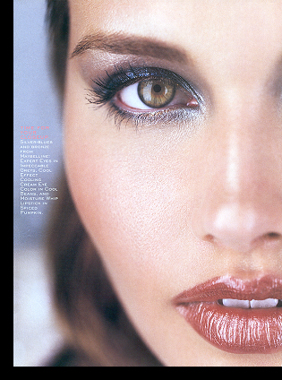 Shannon Marie in ''Faces for a Fete'' editorial; November 1999 issue
