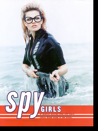 Shannon Marie in ''Spy Girls'' editorial; April 1998 issue