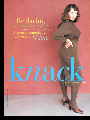 Barbara Brickner in ''The Knit Knack'' editorial; Fall 1997 issue