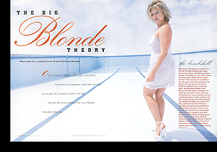 Emme in ''The Big Blonde Theory'' editorial; August 1998 issue