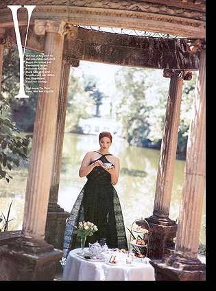 Kate Dillon in ''Princess Pointers'' editorial; October 1998 issue