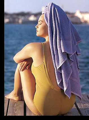 Barbara Brickner in ''Sirens of Swim'' editorial (photographed by Michel Arnaud); June/July 1998 issue