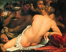 Carracci, 'Venus with Satyr' c.1588