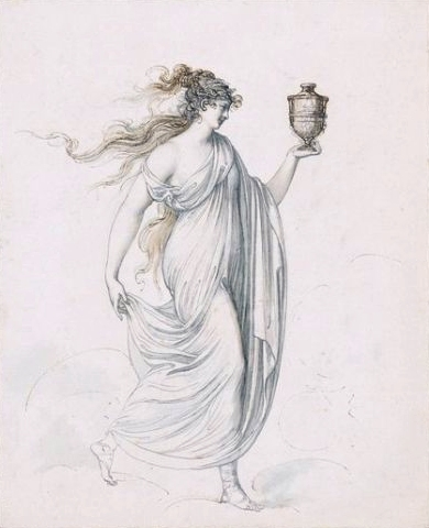 Cosway, ''Emma Hart afterwards Lady Hamilton as the Goddess of Health,'' c.1780-90