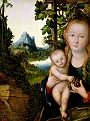 Virgin and Child in a Grape Arbour