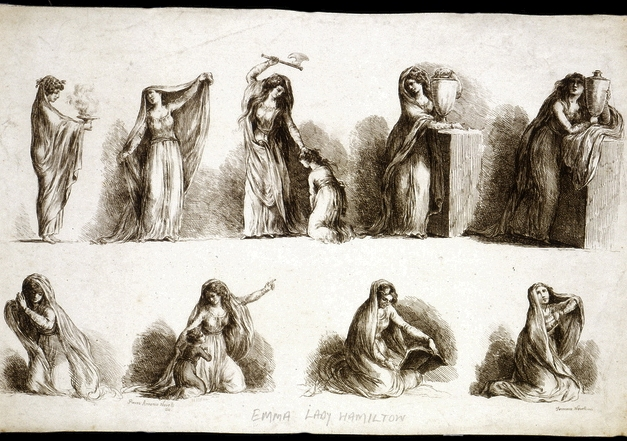 Novelli, ''The Attitudes of Lady Hamilton,'' after 1791