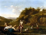 Landscape with Bathing Nudes