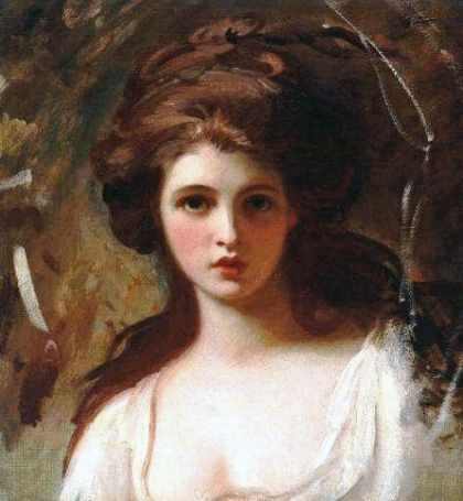 Romney, \'\'Lady Hamilton as Circe,\'\' c.1782