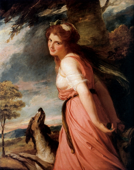 Romney, ''Emma Hamilton as a Bacchante,'' 1785