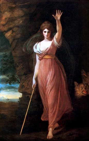 Romney, \'\'Lady Hamilton as Circe,\'\' 1782