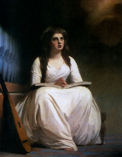 Romney, ''Emma Hamilton as St. Cecilia,'' c.1785 