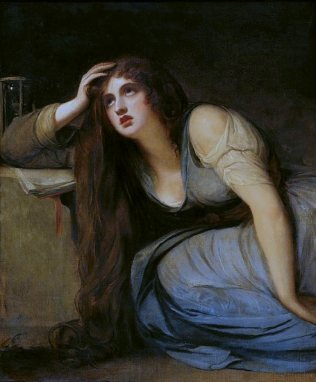Romney, ''Lady Hamilton as the Magdalene,'' 1792