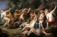 Diana and Her Nymphs Surprised by Satyrs