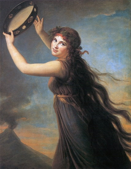 Vigee-Le Brun, ''Lady Hamilton as a Bacchante,'' 1792
