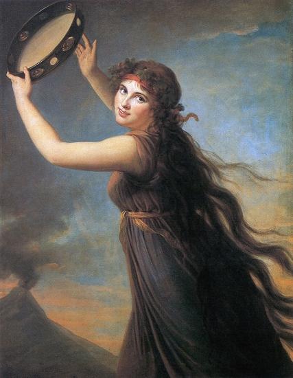 Vigee-Le Brun, ''Lady Hamilton as a Bacchante,'' 1792