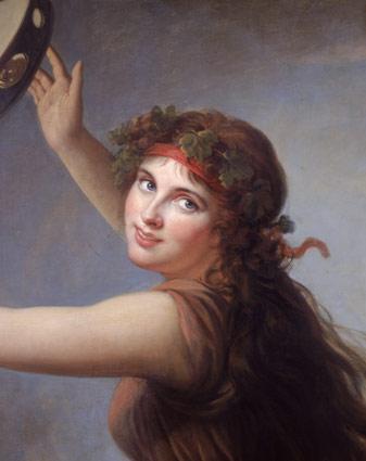 Vigee-Le Brun, ''Lady Hamilton as a Bacchante'' (detail), 1792