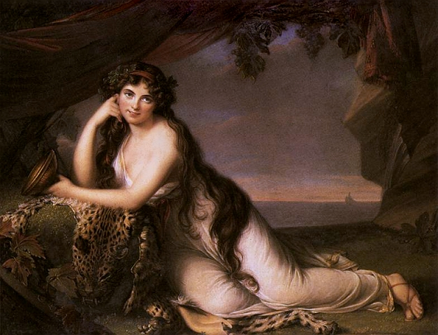 Vigee-Le Brun, \'\'Lady Hamilton as Ariadne,\'\' 1790
