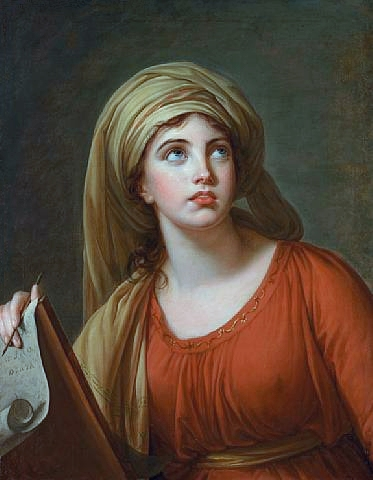 Vigee-Le Brun, ''Lady Hamilton as the Cumaean Sibyl,'' 1792