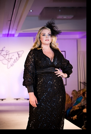 Kelsey Olson walking the runway in the Queen Grace show at FFFWeek 2011; click to enlarge.
