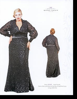 Kelsey Olson modelling the Mae dress, in the first-ever Queen Grace catalogue; click to enlarge.