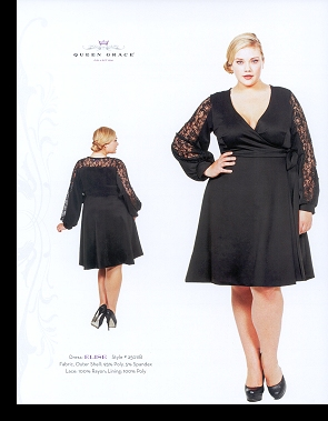 Kelsey Olson modelling the Elise dress, in the first-ever Queen Grace catalogue; click to enlarge.