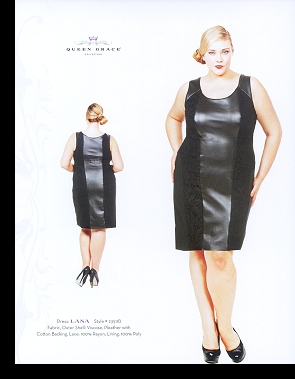 Kelsey Olson modelling the Lana dress, in the first-ever Queen Grace catalogue; click to enlarge.