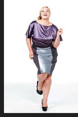 Kelsey Olson modelling the Rony blouse and Eve skirt, in an outtake from the first-ever Queen Grace photoshoot; click to view catalogue page.