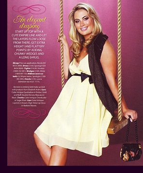 Editorial layout in Australian ''Cosmopolitan'' magazine, 2006