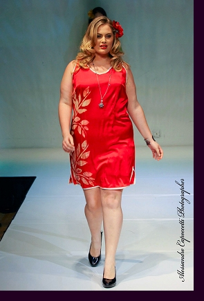 Walking the runway for Jill Alexander at ''Curves in Couture''