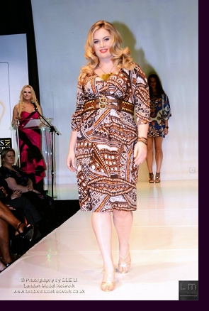 Walking the runway for Anna Scholz at ''Curves in Couture''