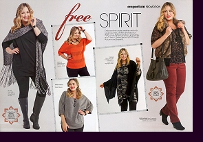 Editorial layout in Myer Australia's ''Emporium'' magazine, Spring 2012