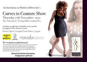 Official ''Curves in Couture'' invitation for the Judgment of Paris