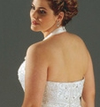 Modelling for Emme Bridal ''W''--2004 collection